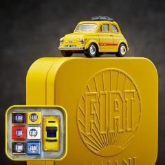 FIAT チョコレート・ミニカーセット(マイアーニ/Majani)(イエロー)(のし・包装・メッセージカード利用不可)/ (バレンタインギフト)C-19【CB】*z-Y-majani-fiat-can-yellow*