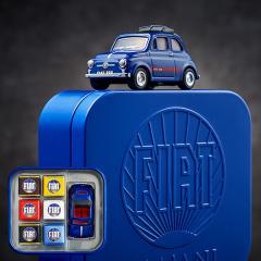 FIAT チョコレート・ミニカーセット(マイアーニ/Majani)(ブルー)(のし・包装・メッセージカード利用不可)/ (バレンタインギフト)C-19【CC】*z-Y-majani-fiat-can-blue*