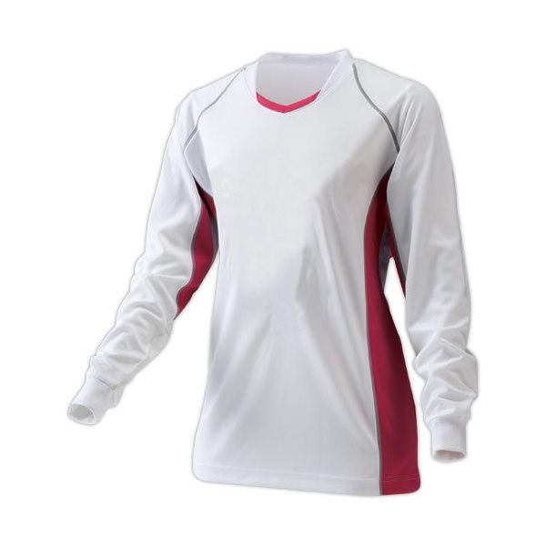 (セール)SPORTS AUTHORITY(スポーツオーソリティ)バレーボール ゲームユニフォーム 長袖ゲームシャツ S09-52-033 WH/PNK/SL WHITE/PINK