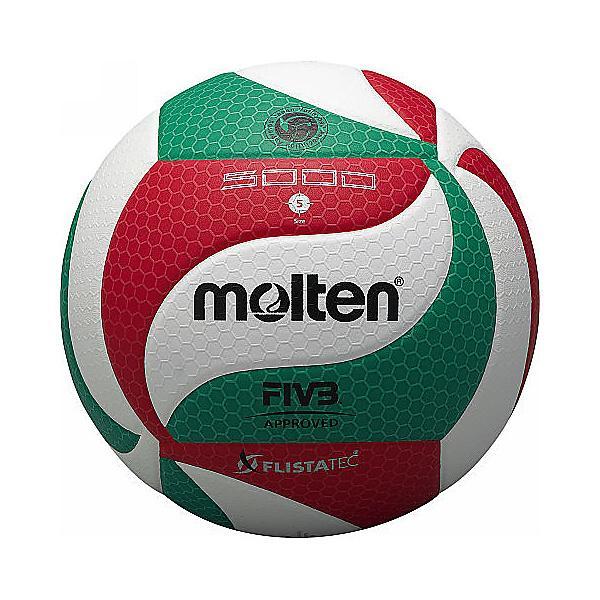 (送料無料)molten(モルテン)バレーボール 5号ボール フリスタテックボール 5号球 V5M5000 5 WHT