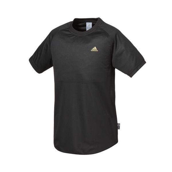 (セール)adidas(アディダス)バレーボール 半袖Tシャツ メンズ ワンポイントTシャツ 330484 BLK BLACK