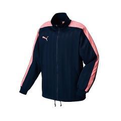 <LOHACO> (セール)PUMA(プーマ)メンズスポーツウェア ウォームアップジャケット TS)トレーニングジャケット 86222088 メンズ ネイビー/ゼラニウム ピンク画像
