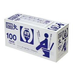 (送料無料)LOGOS(ロゴス)キャンプ用品 防災グッズ LLL パームトイレ 100パック 82100410
