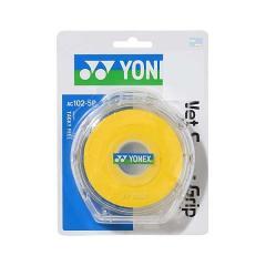 YONEX(ヨネックス)ラケットスポーツ グリップテープ ウェットスーパーグリツプ AC102-5P イエロー