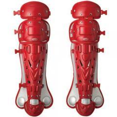 (セール)Rawlings(ローリングス)野球 キャッチャーギア/ヘルメット RBJLG 軟式ジュニア用 キャッチャーレガース RBJLG RD/SIL RED/SIV ガールズ