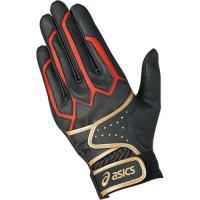 ASICS(アシックス)パークゴルフ トリプルベルトグローブ GGP5012 9023 BLACK/RED