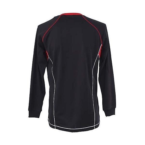(セール)MIZUNO(ミズノ)バレーボール 長袖プラクティスシャツ メンズ 長袖ゲームシャツ 59SP-39796 メンズ BLACK/RED