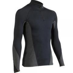 (セール)MIZUNO(ミズノ)ウインター メンズインナーウェア ブレスサーモ バーチャルボディ ジップシャツ A50SM-52070 BLACK
