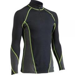 (セール)MIZUNO(ミズノ)ウインター レディースインナーウェア ブレスサーモ バーチャルボディ ジップシャツ A50SM-52074 LIME