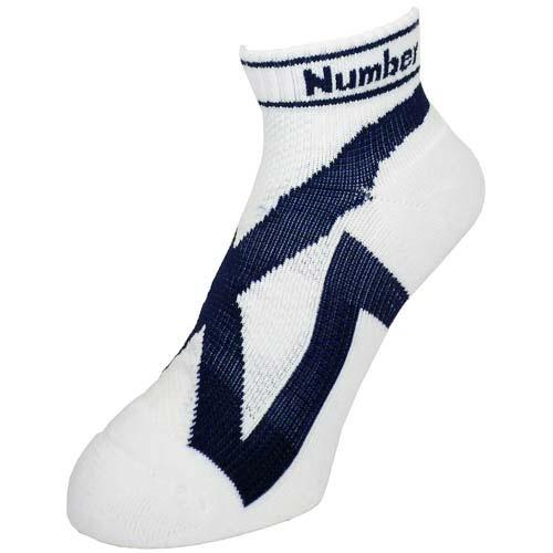 (セール)Number(ナンバー)バスケットボール ジュニアソックス テーピングソックス ベリーショート 本品サイズ 21-23cm NB-Y14-103-004WTBL21 メンズ 2123 WHT/BLU