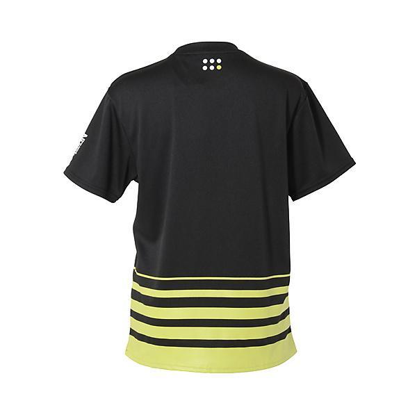 (セール)Number(ナンバー)バレーボール 半袖Tシャツ 半袖プラTEE ボーダー NB-S14-104-008 BLK レディース BLACK