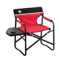 (セール)COLEMAN(コールマン)キャンプ用品 ファミリーチェア キャンプ用品 サイドテーブル付きデッキチェアST 2000017005