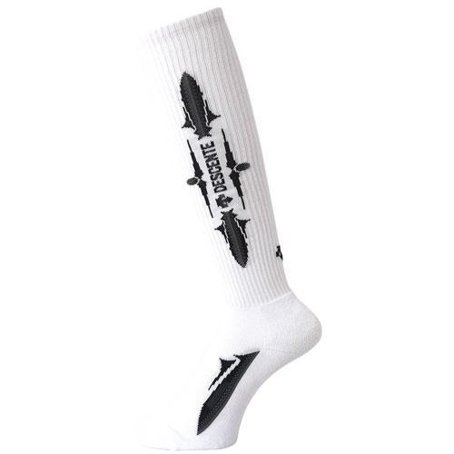 DESCENTE(デサント)バレーボール レディース ソックス 靴下 2足組ハイソックス  23-25 DVB-9443S2 WBK 23-25