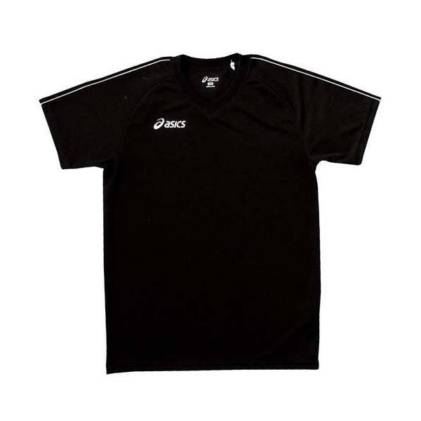 (セール)ASICS(アシックス)バレーボール ジュニア長袖プラクティスシャツ プラシヤツHS XW5205 9001 ジュニア ブラツクXホワイト