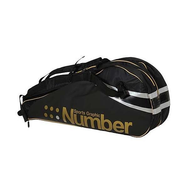 (セール)Number(ナンバー)ラケットスポーツ バッグ ケース類 バッグ ラケットケース ナンバーアールケーディーバッグ NB-Y14-201-006 BK/GD