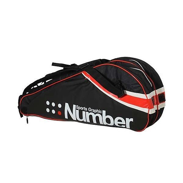 (セール)Number(ナンバー)ラケットスポーツ バッグ ケース類 バッグ ラケットケース ナンバーアールケーディーバッグ NB-Y14-201-006 BK/RD