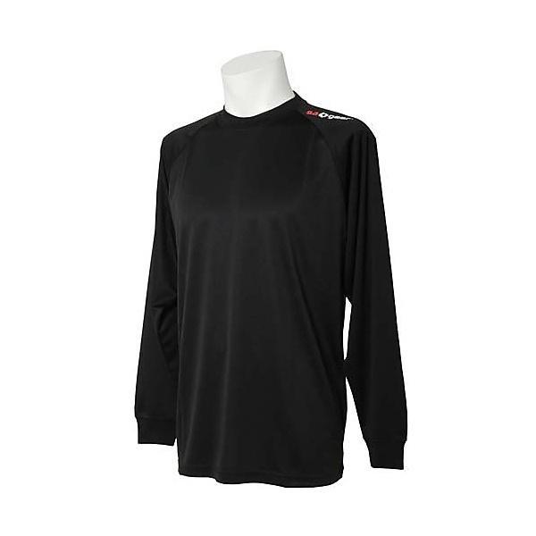 (セール)s.a.gear(エスエーギア)バレーボール 長袖Tシャツ 長袖ワンポイントTシャツ SA-Y14-104-021 BLK BLK