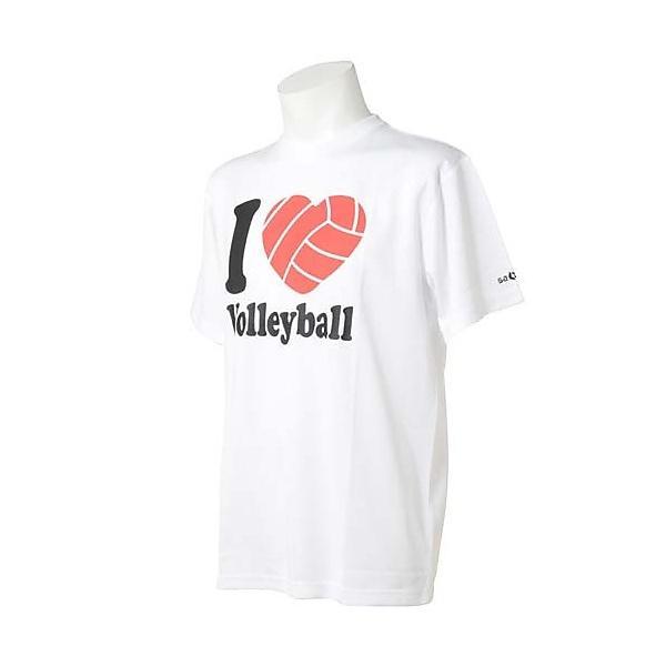 (セール)s.a.gear(エスエーギア)バレーボール 半袖Tシャツ 半袖グラフィックTシャツ I LOVE Volleyball SA-F14-104-025 WHT WHITE