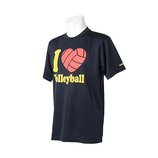 (セール)s.a.gear(エスエーギア)バレーボール 半袖Tシャツ 半袖グラフィックTシャツ I LOVE Volleyball SA-F14-104-025 NVY NAVY