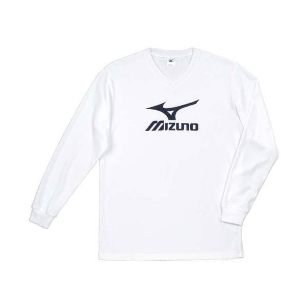 MIZUNO(ミズノ)バレーボール 長袖プラクティスシャツ プラクティスシャツ V2JA409070 ホワイトxブラック