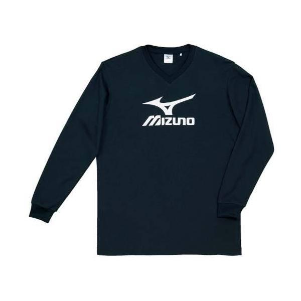 MIZUNO(ミズノ)バレーボール 長袖プラクティスシャツ プラクティスシャツ V2JA409090 ブラックxホワイト