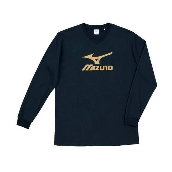 MIZUNO(ミズノ)バレーボール 長袖Tシャツ プラクティスシャツ V2JA409095 ブラックxゴールド