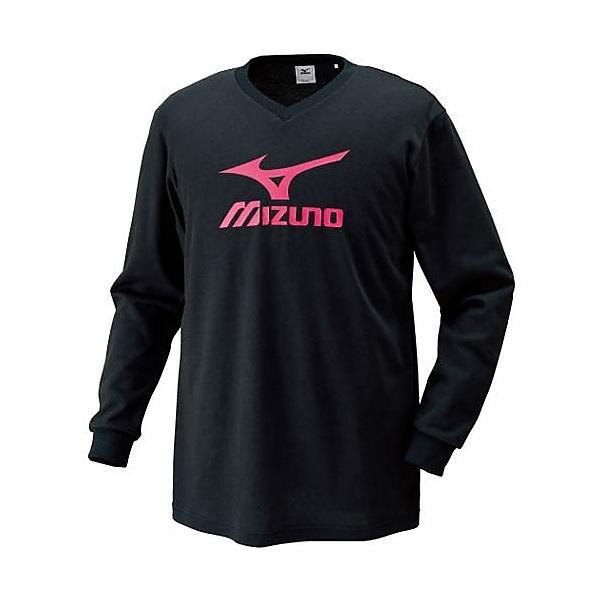 MIZUNO(ミズノ)バレーボール 長袖プラクティスシャツ プラクティスシャツ V2JA409097 ブラックxマゼンタ