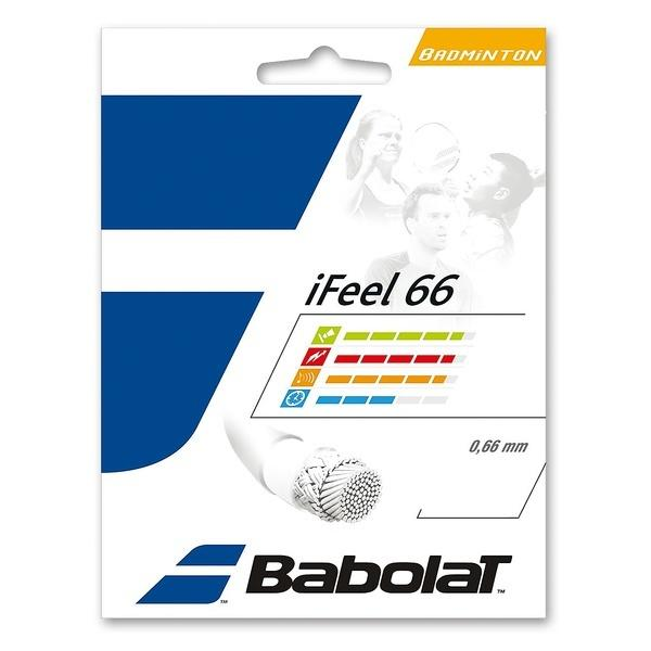 Babolat(バボラ)バドミントン ストリングス I-FEEL 66 BA241127 0.66 ホワイト