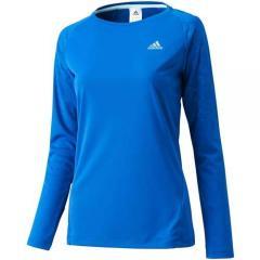 アディダス レディーススポーツウェア 長袖Tシャツ ActiveTraining ボディヒート長袖Tシャツ JED75 S04718 レディース ROYAL