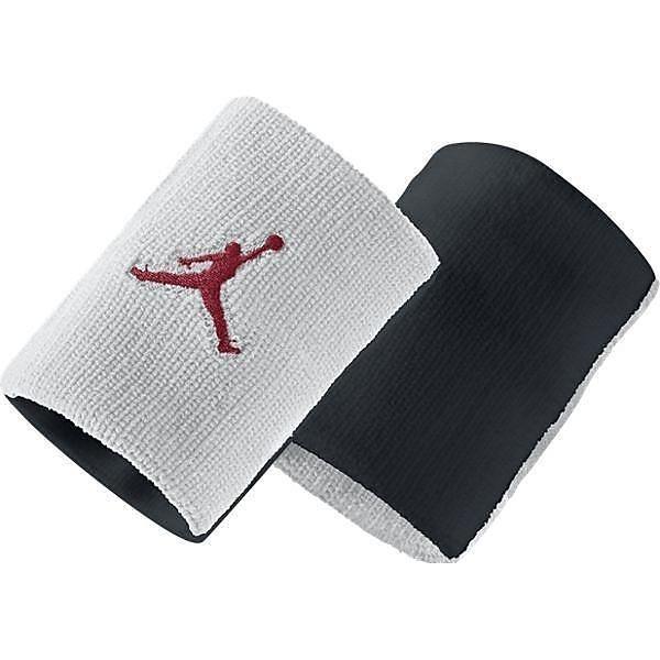 (セール)NIKE(ナイキ)バスケットボール アクセサリー JORDAN ジャンプマン リストバンド 619352-100 MISC ホワイト/ブラック/(ジムレッド)