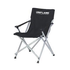 (送料無料)UNIFLAME(ユニフレーム)キャンプ用品 ファミリーチェア UFチェア100 ブラック 68027