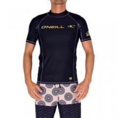 O'NEILL(オニール)サマー レジャー メンズラッシュガード サマー レジャー ロゴプリント半袖ラッシュガード メンズ 625489 BKG メンズ BLACK