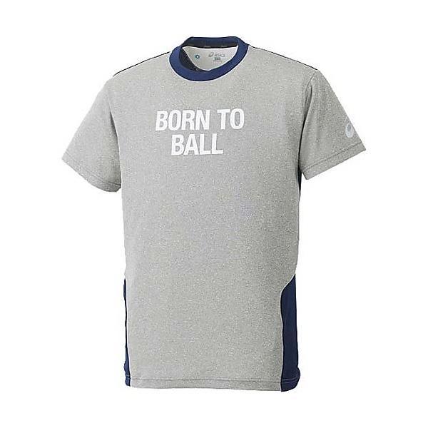 (セール)ASICS(アシックス)バスケットボール メンズ 半袖Tシャツ 半袖プリントTシャツ XB6545.99 GRY