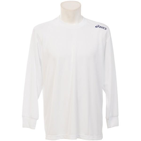 ASICS(アシックス)バレーボール 長袖Tシャツ 15S 1POINT TEE LS EZO927 0150 WHT/NVY WHITE/NAVY