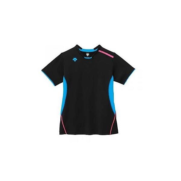 (セール)DESCENTE(デサント)バレーボール 半袖プラクティスシャツ バレーボール ウェア 半袖プラクティスシャツ レディース DVB-5524W レディース BBL