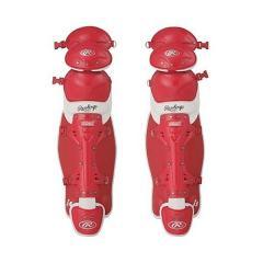 (送料無料)Rawlings(ローリングス)野球 キャッチャーギア/ヘルメット ソフトボール用レガーズ(トリプルカップ) CLS5950 RD/W