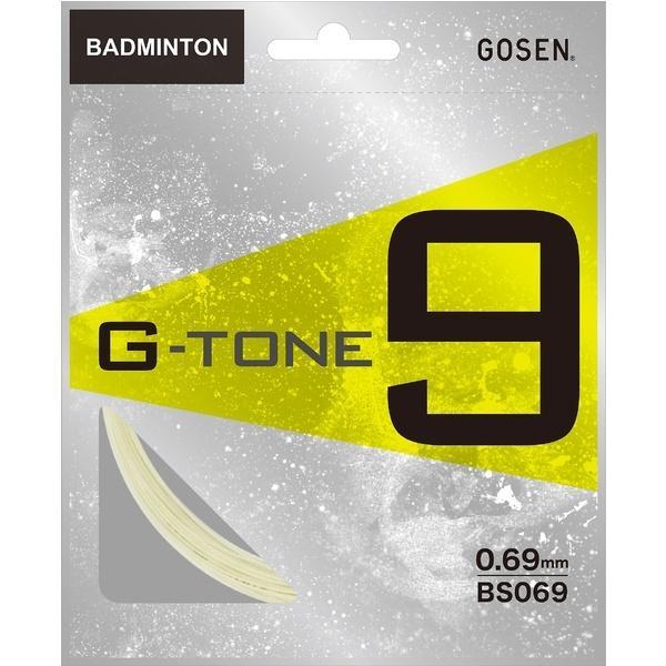 GOSEN(ゴーセン)バドミントン ストリングス BS069 G-TONE 9 BS069BK ブラック