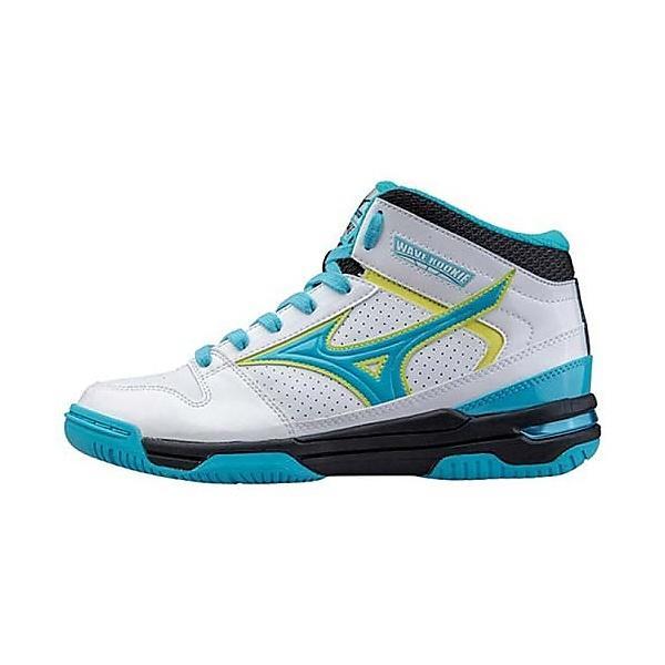 (セール)MIZUNO(ミズノ)バスケットボール ジュニア シューズ WAVE ROOKIE BB3 W1GC157025 ジュニア ホワイトxサックス