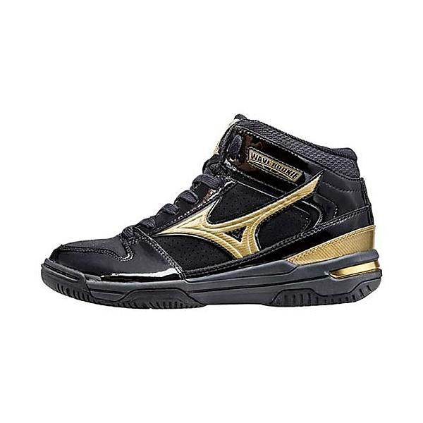 (セール)MIZUNO(ミズノ)バスケットボール ジュニア シューズ WAVE ROOKIE BB3 W1GC157050 ジュニア ブラックxゴールド