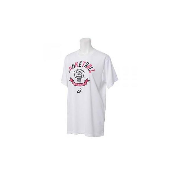 (セール)ASICS(アシックス)バスケットボール レディース 半袖Tシャツ バスケットボール ウェア WS TEE HS レディース XB010X.01 WHITE
