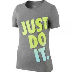 ナイキ レディーススポーツウェア Tシャツ JDI フェードTシャツ 666610-063 レディース ダークグレーヘザー/(ボルト)