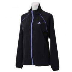 <LOHACO> (セール)adidas(アディダス)レディーススポーツウェア ウインドアップジャケット クロスジャケット BBV69 AH4265 レディース BLACK画像