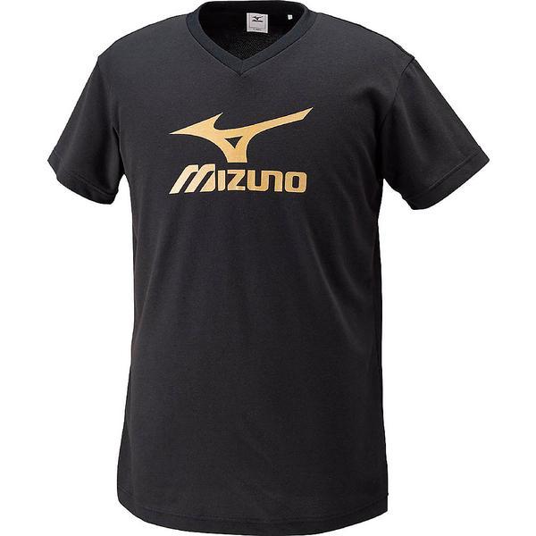 MIZUNO(ミズノ)バレーボール 半袖プラクティスシャツ プラクティスシャツ V2JA408095 ブラックxゴールド