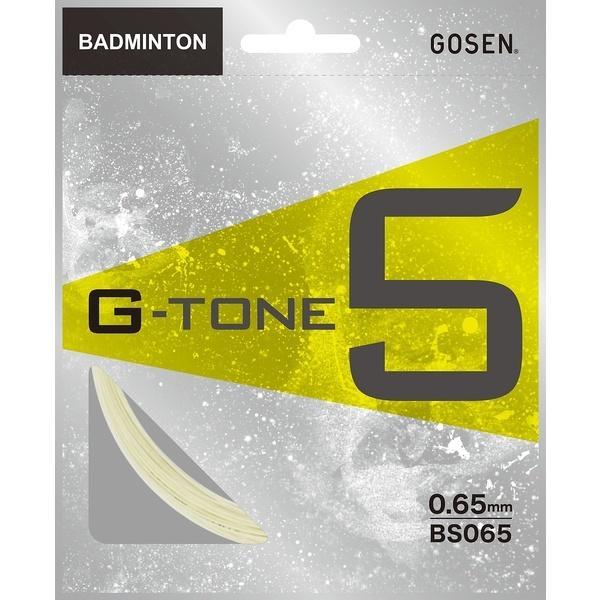 GOSEN(ゴーセン)バドミントン ストリングス G-TONE 5 BS065BK ブラック