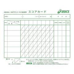 ASICS(アシックス)グラウンドゴルフ アクセサリー 耐水両面スコアカード GGG095.01 F ホワイト