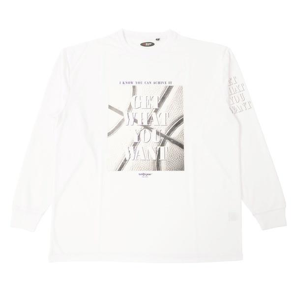 (セール)s.a.gear(エスエーギア)バスケットボール メンズ 長袖Tシャツ 長袖グラフィックT SA-F15-103-046 メンズ ホワイト