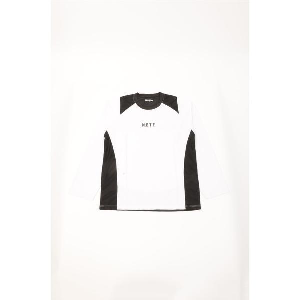 (セール)Number(ナンバー)バスケットボール メンズ 長袖Tシャツ NBTF 長袖ロゴTシャツ NB-F15-103-011 メンズ ホワイト
