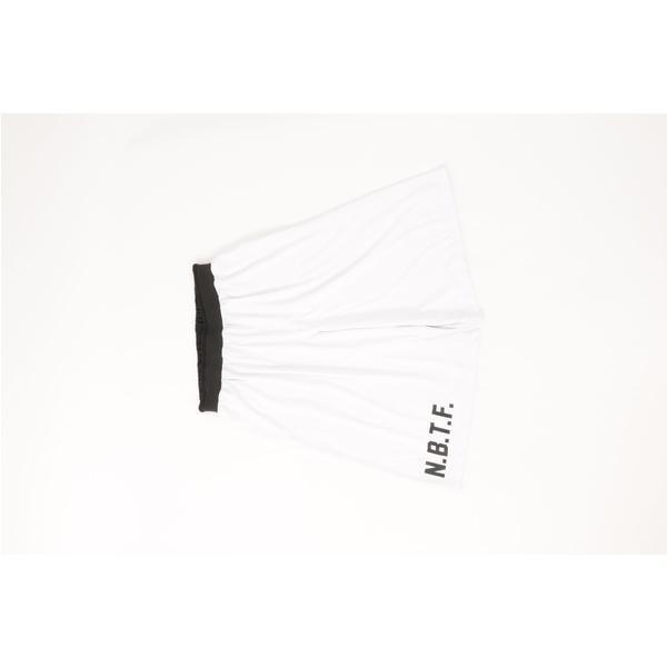 (セール)Number(ナンバー)バスケットボール メンズ プラクティスショーツ NBTF ロゴショートパンツ NB-F15-103-012 メンズ ホワイト