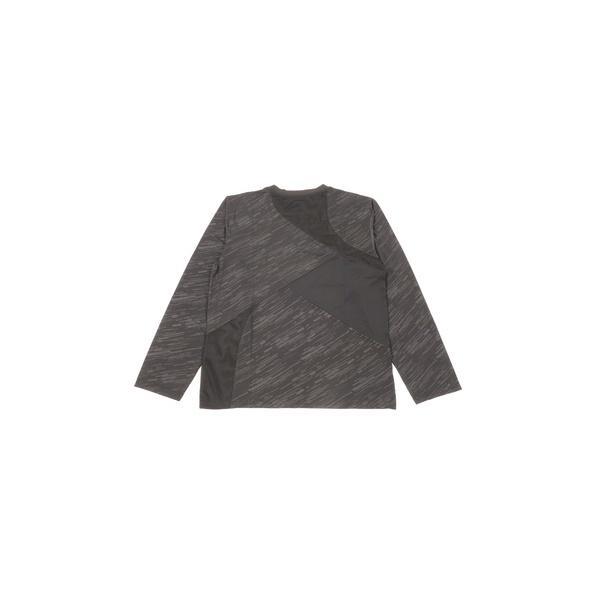 (セール)Number(ナンバー)バスケットボール メンズ 長袖Tシャツ NBTF 切替え長袖Tシャツ NB-F15-103-013 メンズ ブラック