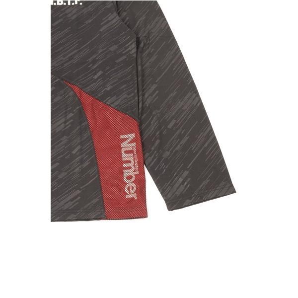 (セール)Number(ナンバー)バスケットボール メンズ 長袖Tシャツ NBTF 切替え長袖Tシャツ NB-F15-103-013 メンズ レッド